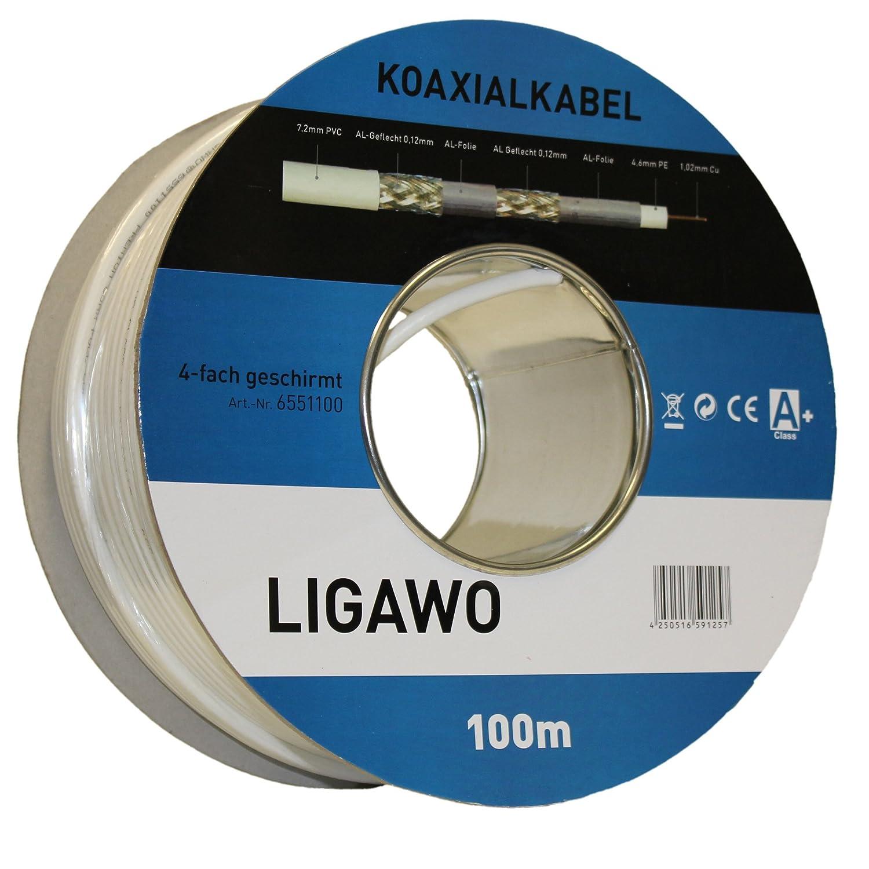 Ligawo® 100 m 130 dB 100 m: Amazon.de: Elektronik