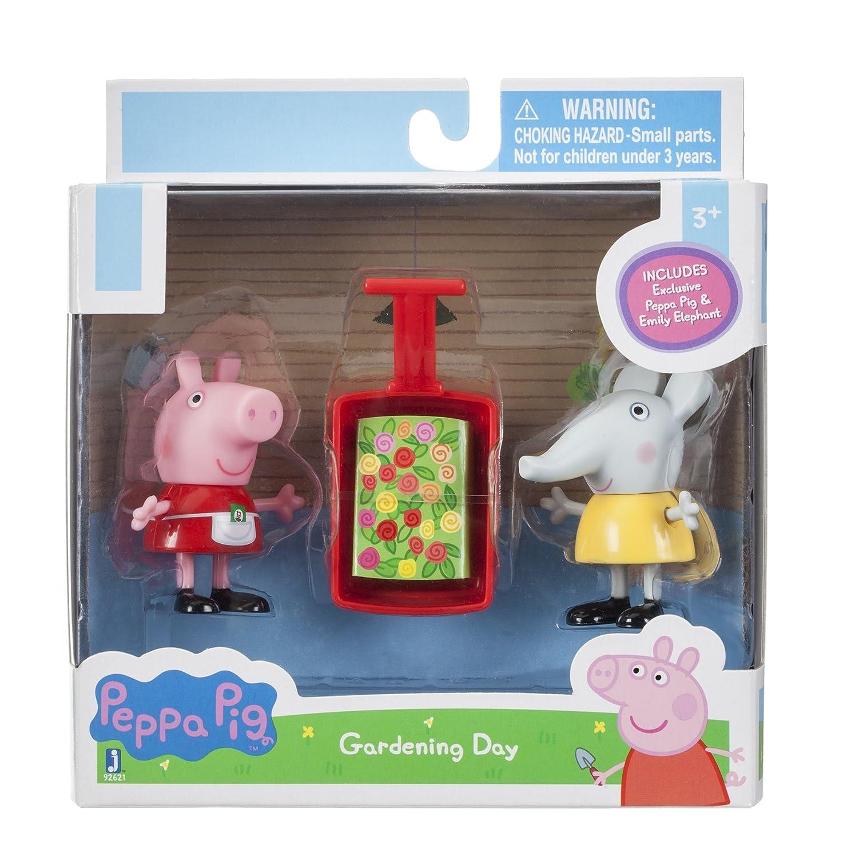 Import 92621 Peppa Pig Peppa /& Emily Elephant Gardening Action Figure Jazwares