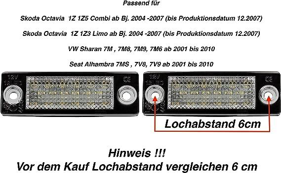 AUTOLIGHT 24 LED Kennzeichenbeleuchtung Nummernschild Beleuchtung 625