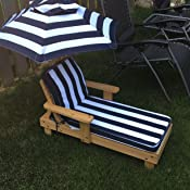 Amazon Com Outdoor Chaise With Umbrella Toys Amp Games