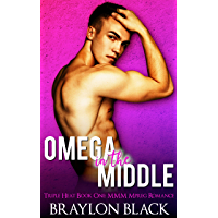 Omega in the Middle: A Non-Shifter MMM Mpreg Romance (Triple Heat Book 1) (English Edition)