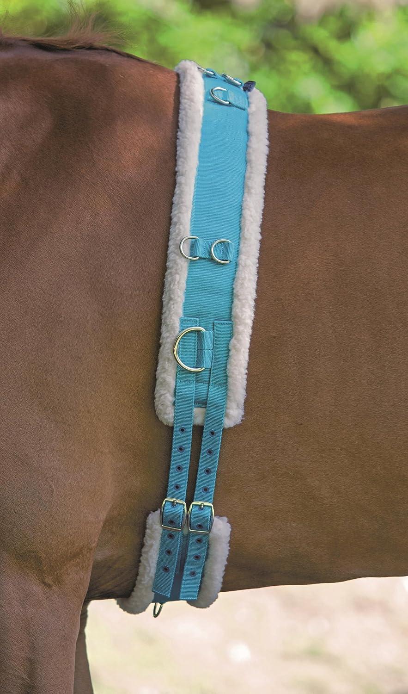 Cinchuelo de Shires, de nailon, con forro de vellón, azul, Plein