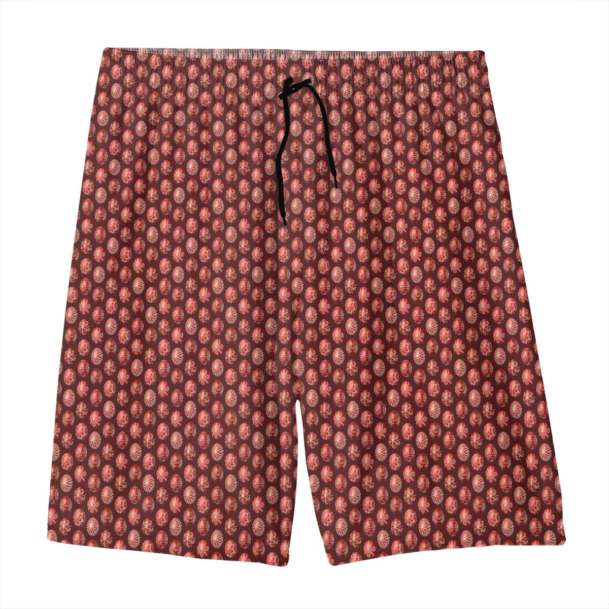 3D-red-pysanka-Middle Teen Swim Trunks Bathing Suit Shorts Board Beach