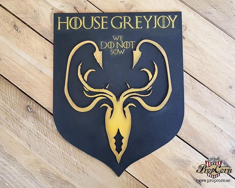 Casa Greyjoy, escudo de Juego de Tronos. Nosotros no sembramos. Islas del Hierro. Pyke. Kraken. Theon, Euron y Jara