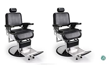 Incroyable Set Of 2 Lincoln Barber Chair Heavy Duty All Purpose Hydraulic Reclining Barber  Chair For Barbershop