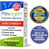 Prevagen Improves Memory - Extra Strength 20mg, 30 Capsules, with Apoaequorin & Vitamin D | Brain Supplement for Better Brain Health, Supports Healthy Brain Function and Clarity | Memory Supplement