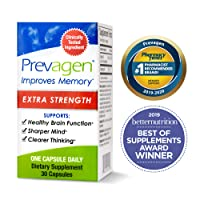 Prevagen Improves Memory - Extra Strength 20mg, 30 Capsules with Apoaequorin & Vitamin...