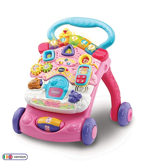 VTech First Steps - Correpasillos para bebé Blanco Rosa: Amazon.es ...