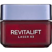 L'Oreal Paris Revitalift Laser X3 Day Cream, Anti-Ageing Moisturiser, Corrects Wrinkles, Re Densifies Skin with Pro-Xylane, 50 ml