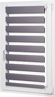 AmazonBasics - Estor enrollable de doble capa, 66 x 150 cm, Gris oscuro