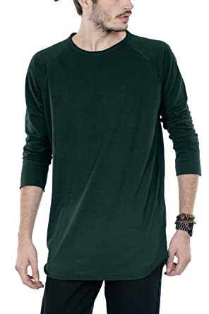 f34c87aa107d Bewakoof.com Pine Green Men's Raglan Longline Fullsleeve T-Shirt ...