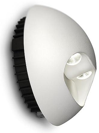 Philips Ledino Indoor LED Wandleuchte, EEK A+, weißAlu