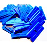 100 Pack Plastic Razor Blades Double Edged Polycarbonate