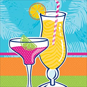 Creative Converting 18 Count Beverage Napkins, Summer Drinks