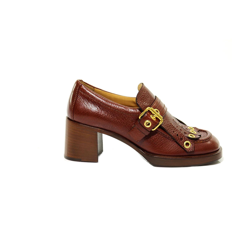 B9680 decollete donna CAR SHOE scarpa marrone etrusco shoe woman