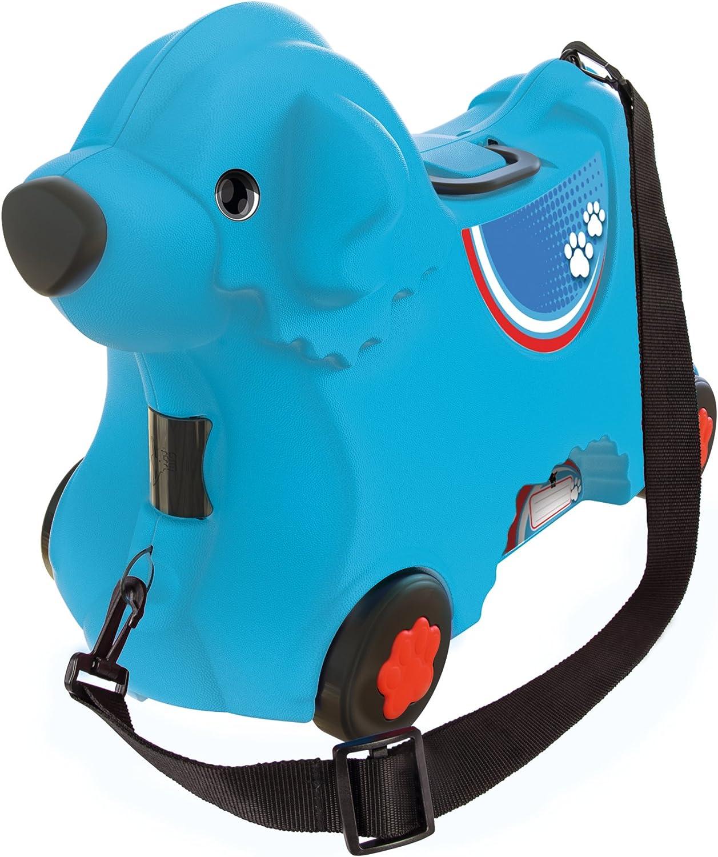 BIG - Bobby-Trolley Perrito Azul con Ruedas-Maleta y Paseo (800055352)
