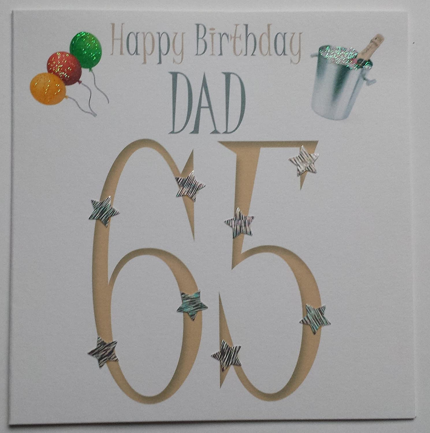 Download 65th birthday card turning 65 happy 65th birthday friend - Happy Birthday Card Dad 65 Handmade Card Amazon Co Uk Kitchen Home