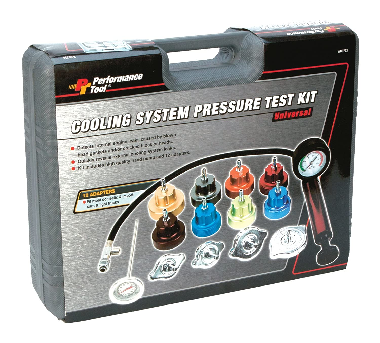 Performance Tool W89733 Cooling System Pressure Tester Kit