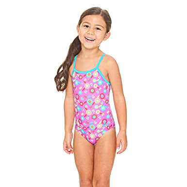 8f11e19dc2e Zoggs Girls' Flora Yaroomba Floral Swimsuit, Pink/Multi-Colour, ...