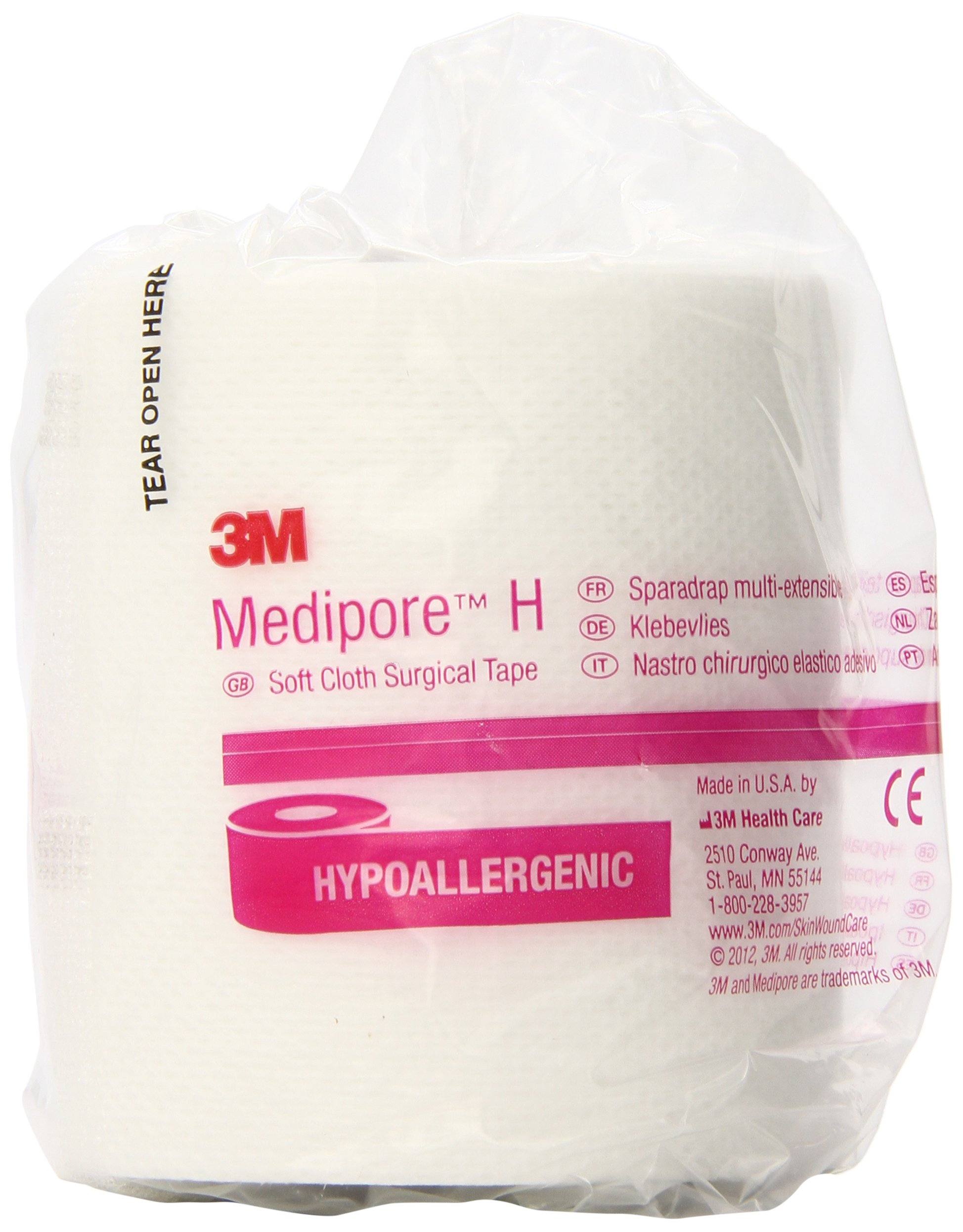 3M Medipore H Soft Cloth Tape 2863 (Pack of 12) by 3M