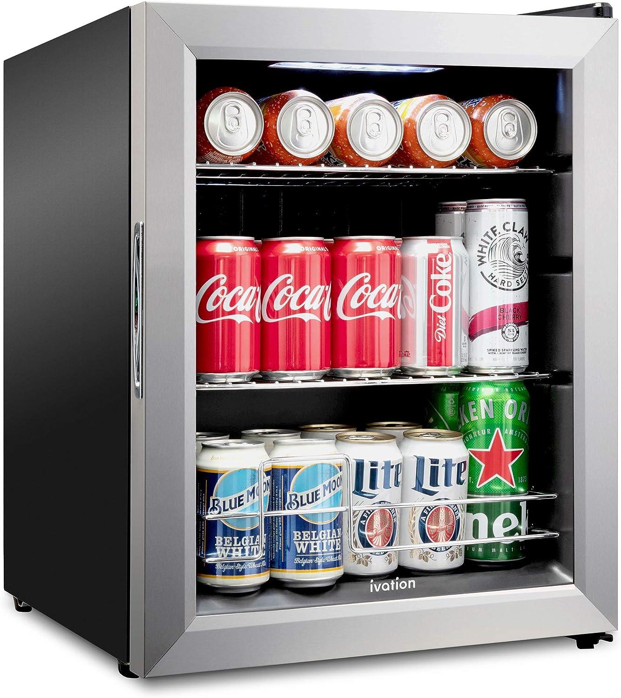 Ivation 62 Can Beverage Refrigerator