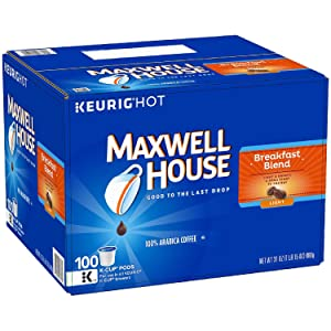 MAXWELL HOUSE Cafe Collection, Breakfast Blend (100 Count) iiiIII