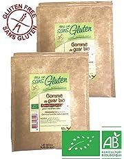 Priméal - Gomme de Guar Bio sans gluten - Lot de 2 paquets de 60g