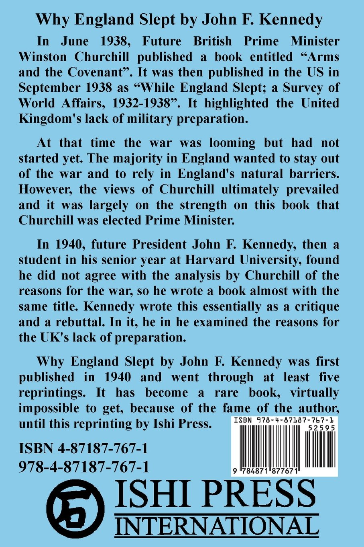 Amazon.com: Why England Slept by John F. Kennedy (9784871877671 ...
