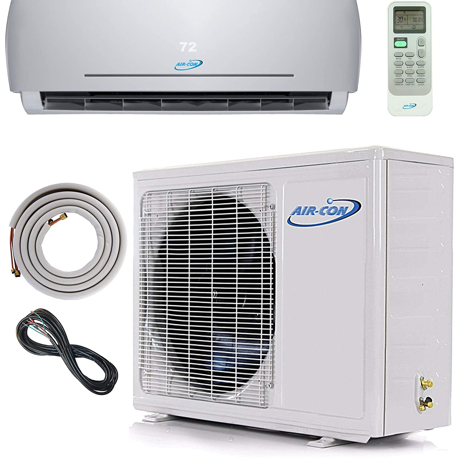 24000 BTU Mini Split Ductless Air Conditioner – 21 SEER - Includes Free 12' Lineset and Wiring - Arrives 100% Ready to Install - Pre-Charged Inverter Compressor – 2 Ton Heat Pump - USA Parts and Tech