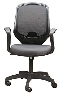 Seat Chacha® Mid-Back Office Chair, Mesh Task Chair, Executive Swivel Chair Adjustable Height (Black)