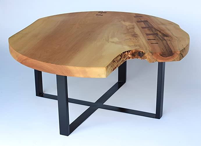 Live Edge Coffee Table, Handmade Table, Natural Edge Table, Round Living  Room Table