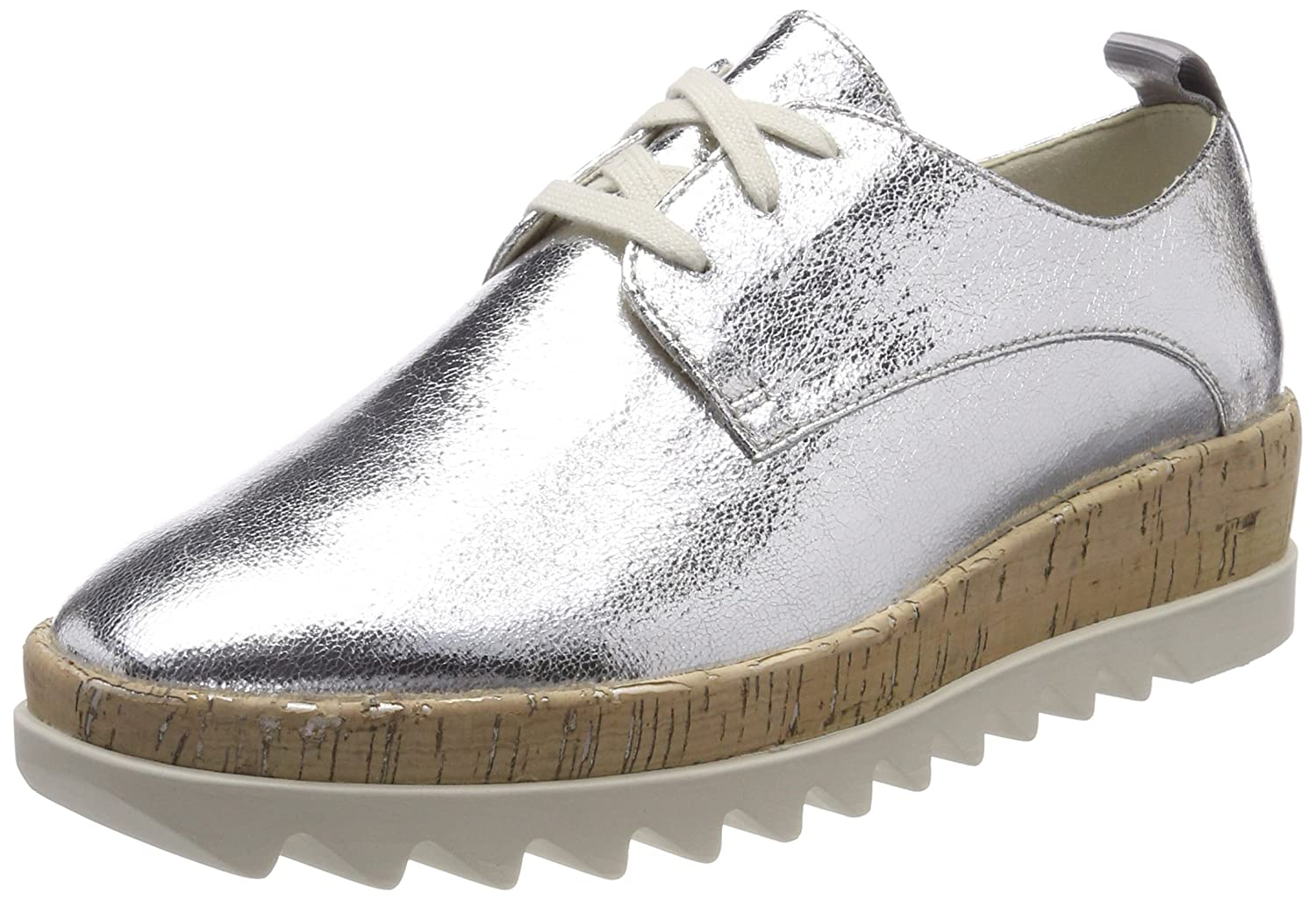 Tommy Jeans Metallic Platform Lace Up Shoe, Zapatillas para Mujer