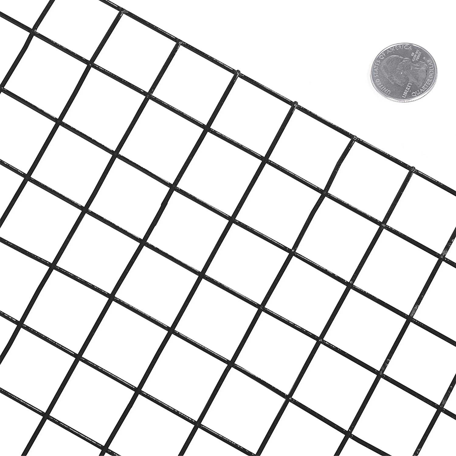 3 ft. x 50 ft. Fencer Wire 16 Gauge Black Vinyl Coated Welded Wire Mesh Size 1 inch by 1 inch