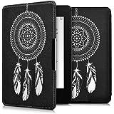 kwmobile Housse élégante en cuir synthétique pour > Amazon Kindle Paperwhite (2012/2013/2014/2015) < en Design Mandala capteur de rêves blanc noir
