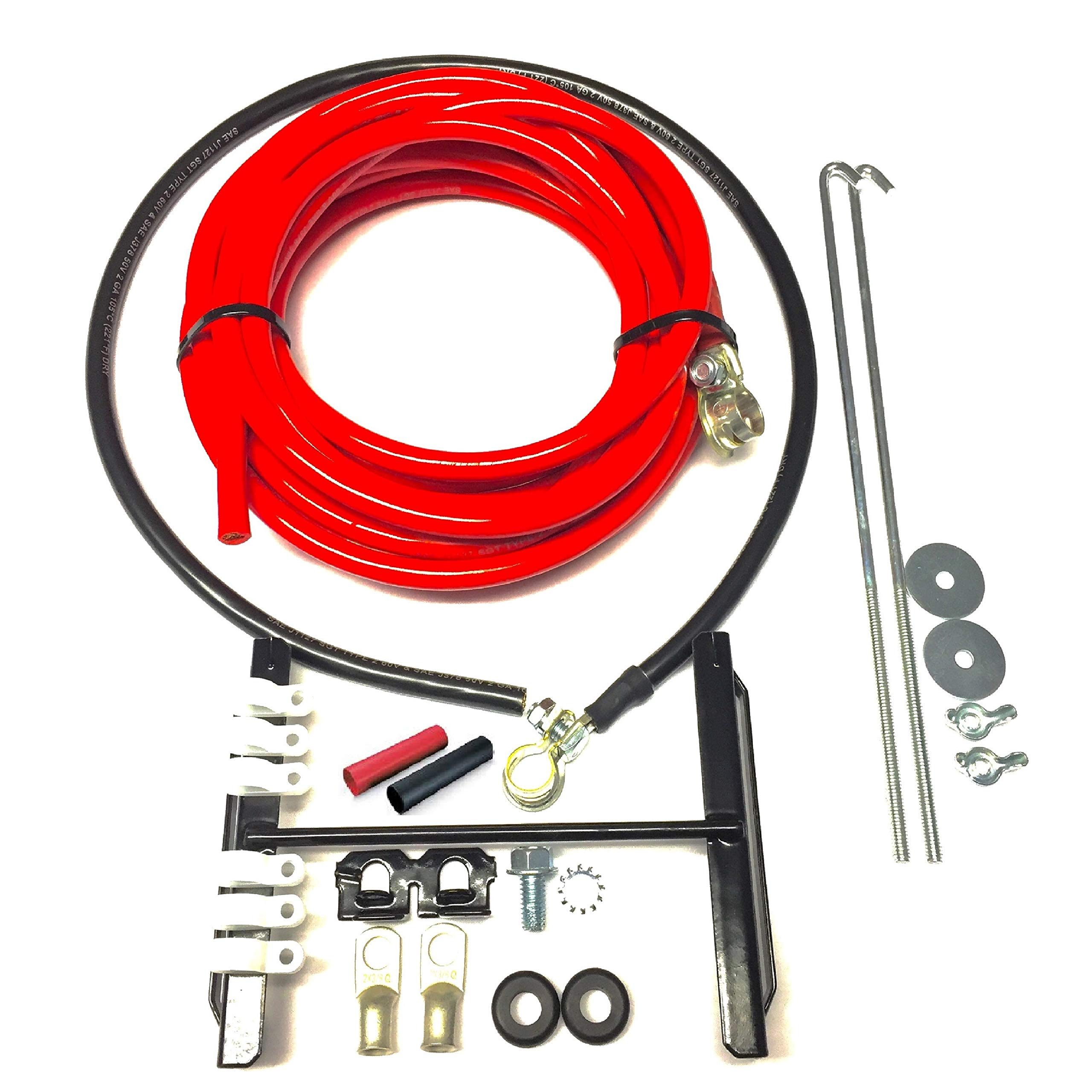 UPP- PROSTREET BATTERY RELOCATION KIT For Automotive/Marine With 20 ft of 2-Gauge Red and 3 ft of 2-Gauge Black Battery Cable/Includes Installation Kit by United Performance Products