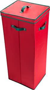 Elf Stor 1024 Paper Storage Box-Stores up to 20 Rolls of 30 Inch Long Gift Wrap in One Convenient Red Lidded Container, 1 PACK