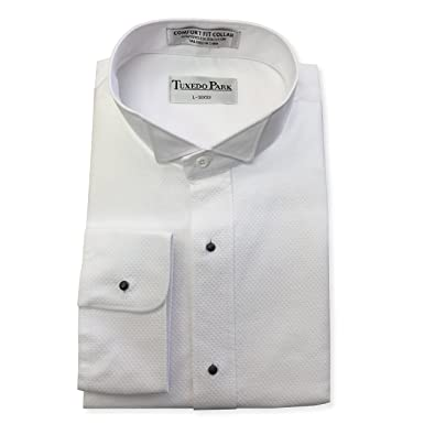 "efd5db590 White Pique Tuxedo Shirt (X-Small / 13-13.5"" Neck, 32"