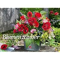 Blumenzauber 2020, Wandkalender im Querformat (45x33 cm) - Blumenkalender mit Monatskalendarium