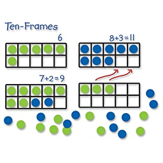 Learning Resources Giant Magnetic Ten-Frame Set, Classroom Math Set, Magnetic Whiteboard Set, Set of 4, Ages 5+