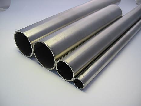 Tubo de acero inoxidable V2 A 42,2 x 2 mm - 1000 mm, acero ...