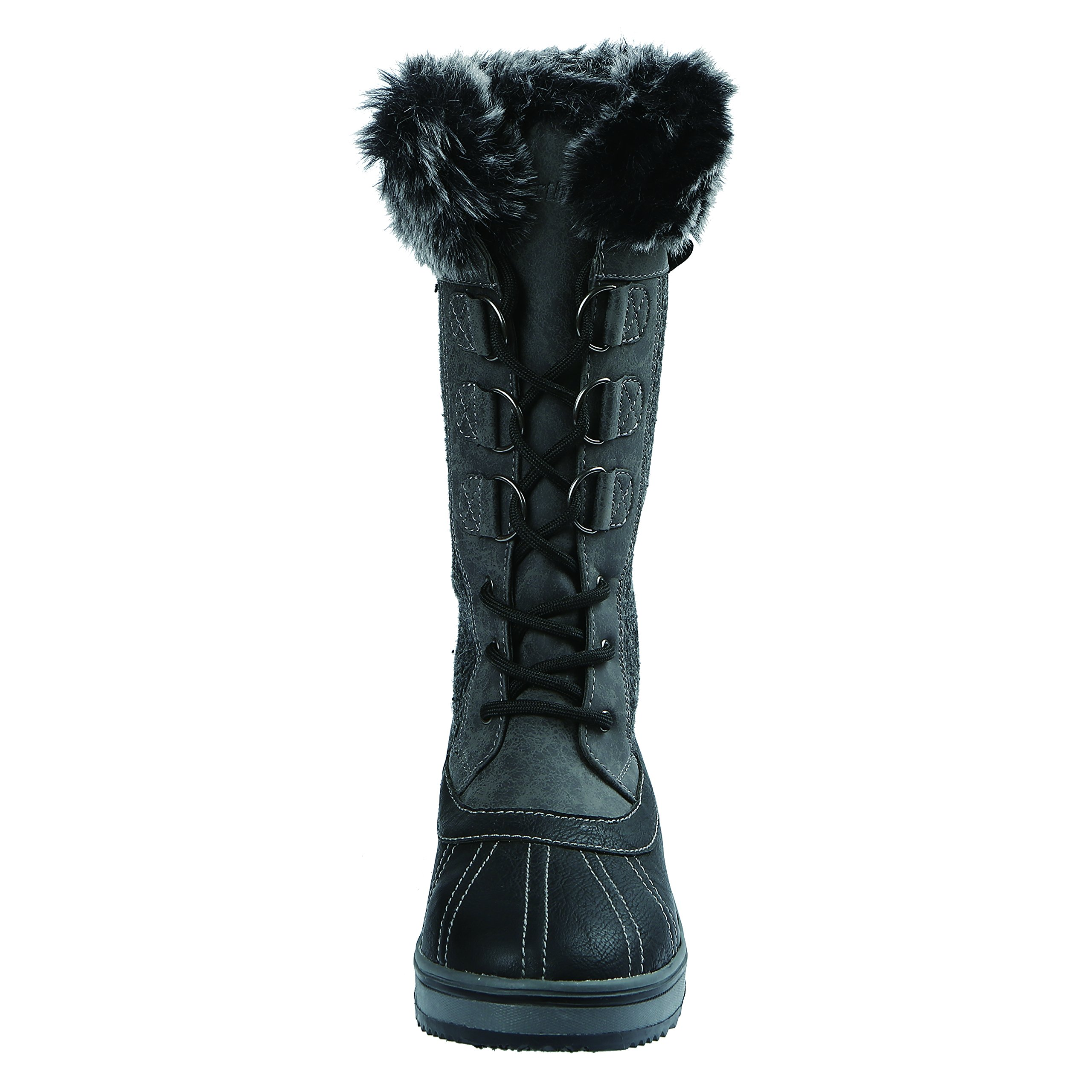Northside Women's Bishop Snow Boot, Charcoal, 10 M US by Northside (Image #3)