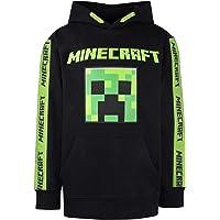 Minecraft - Ropa Minecraft - Sudadera Minecraft para niños - Sudadera 100% Algodón Negro - Sudadera con capucha verde…
