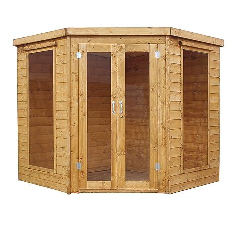Waltons - Caseta esquinera de madera traslapada (2,13 x 2,13 m