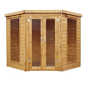1878 7x7 Wooden Corner Garden Summerhouse Shiplap Construction - Dip Treated with  sc 1 st  Amazon UK & WALTONS EST. 1878 7x7 Wooden Corner Garden Summerhouse Shiplap ...