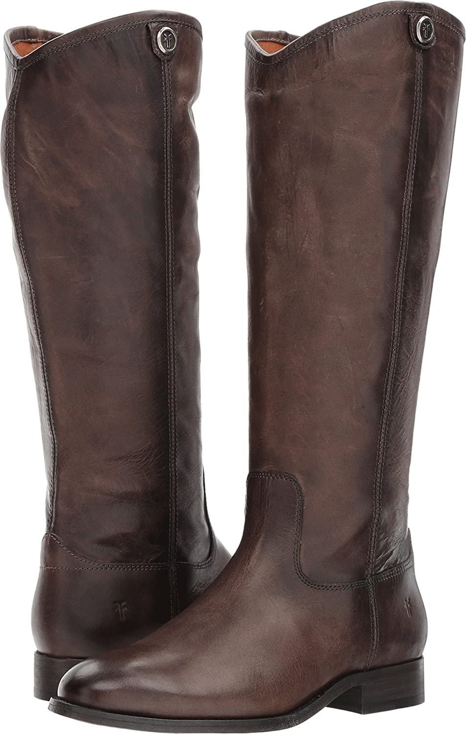 FRYE Women's Melissa Button 2 Riding Boot B06WRMQ8DD 10 B(M) US|Slate Extended