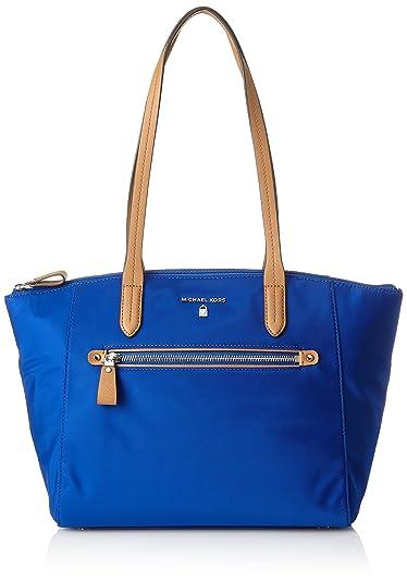 d6bbedc810de Amazon.com  MICHAEL Michael Kors Womens Kelsey Contrast Trim Laptop Tote  Handbag Blue Large  Shoes