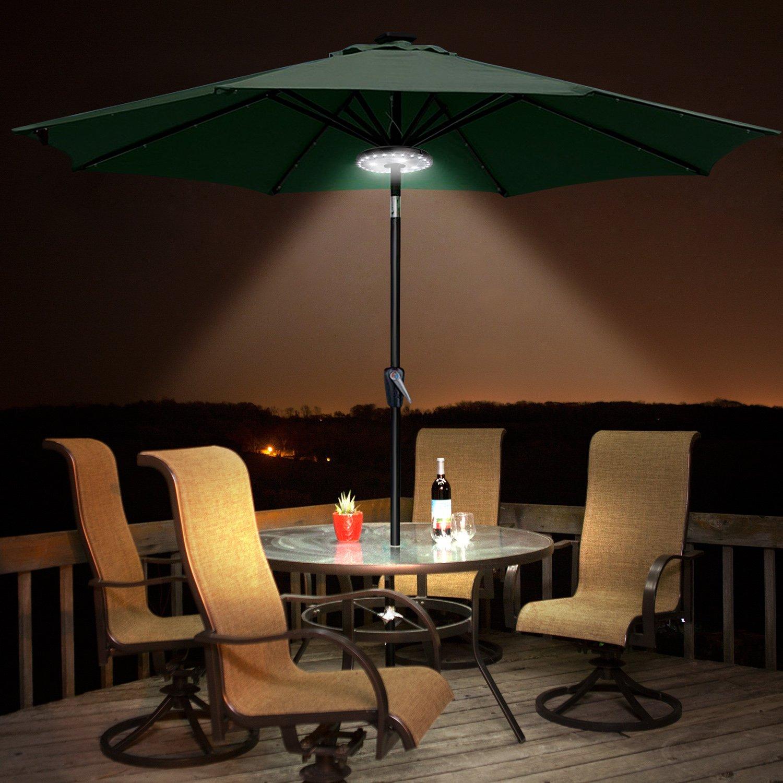 Albrillo 28 LEDs kabellose Sonnenschirmbeleuchtung Sonnenschirm Lampe 3 Modi f/ür Garten Camping Au/ßen