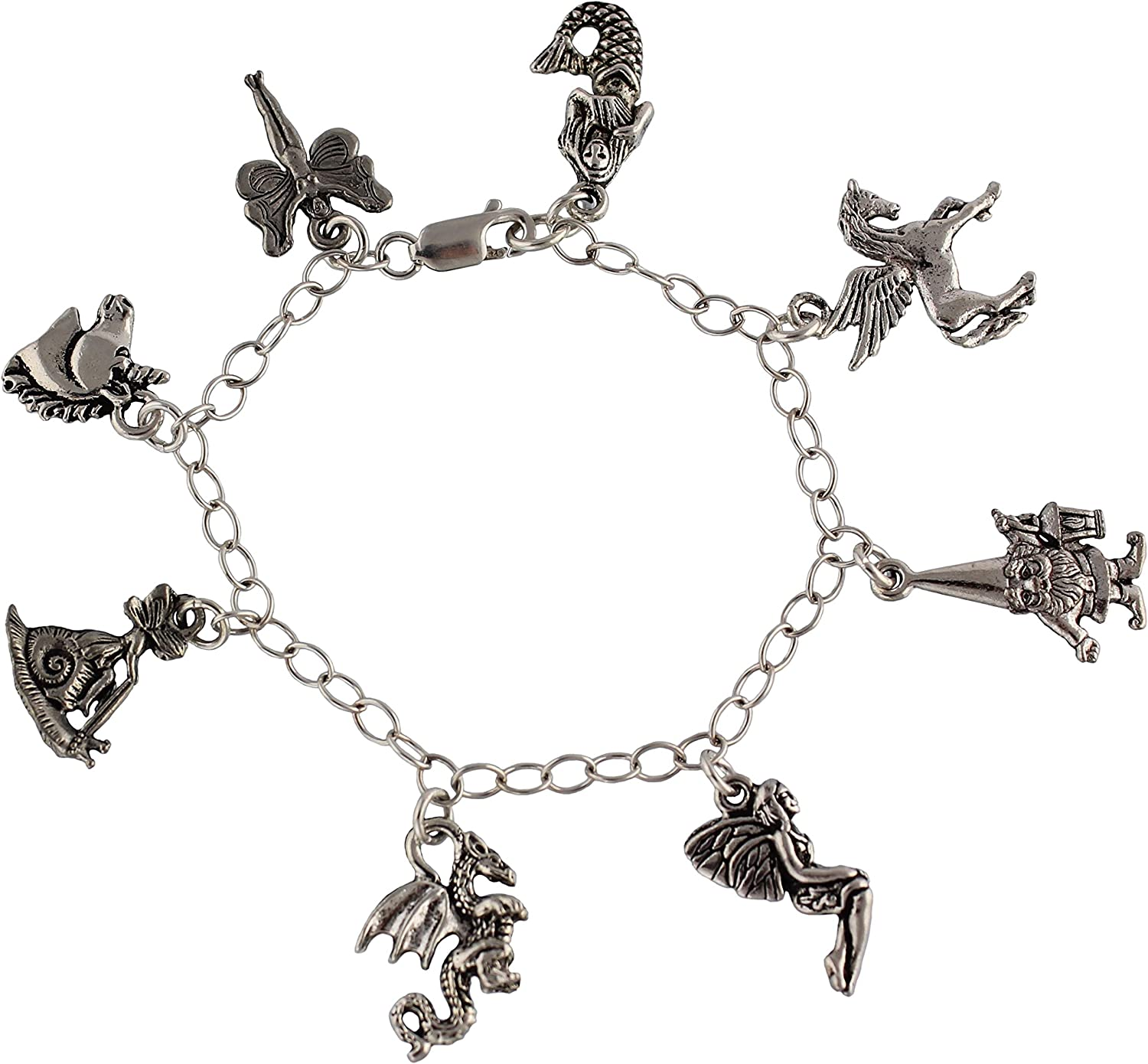 Charms for Bracelets and Necklaces Owl Charm With Lobster Claw Clasp