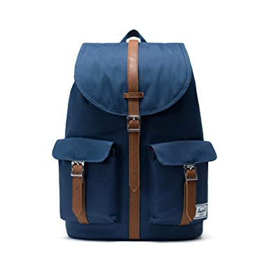 3b0c8651e58 Herschel Dawson Backpack - Navy Tan Synthetic Leather
