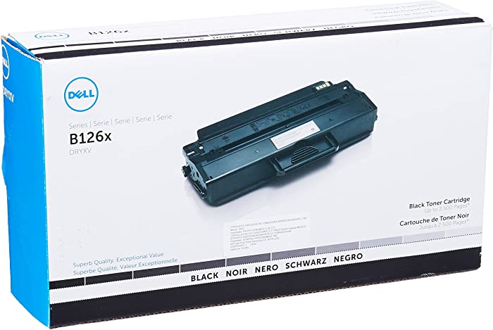 Dell DRYXV Toner Cartridge B1260dn/B1265dnf/B1265dfw Laser Printers, Black, One Size